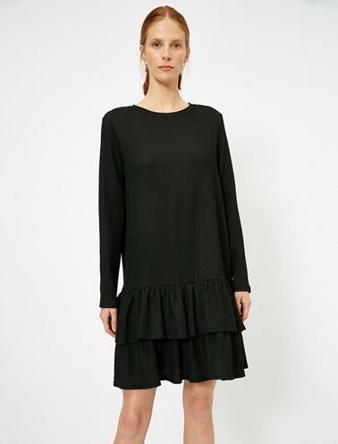 Koton Firfir Detayli Elbise Siyah